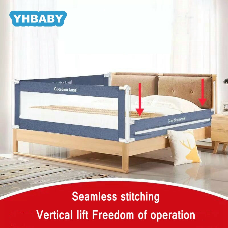 2M Baby Bed Fence Crib Rails Security Fencing Children Guardrail Home Kid Playpen Safety Fence