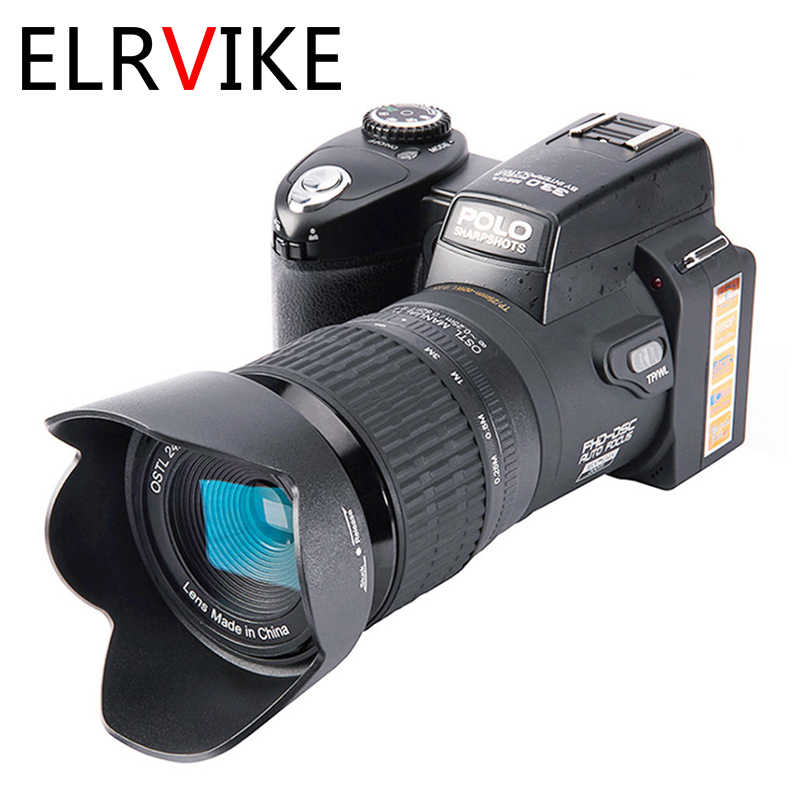Elrvike Camera Hd Digitale Camera Polo D7100 33 Miljoen Pixel Autofocus Professionele Slr Video Camera 24X Optische Zoom Drie lens