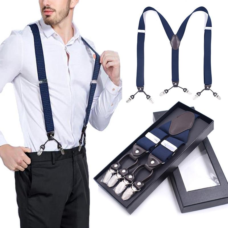 """2/"""" 50mm Wide Mens X-Back X Shape Heavy Duty Trousers Black Brace Suspenders Hot"""