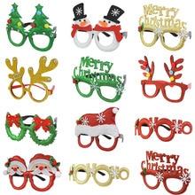 Ornament New-Year Christmas-Glasses Xmas Santa-Snowman Party Elf Plastic Cosplay 1pcs