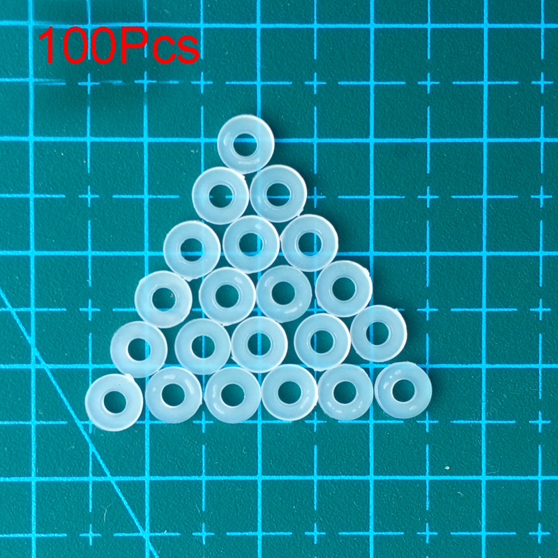 100Pcs FPV Indoor Brushless DIY Accessories M2 M3 Nylon Gasket Washer 1104 <font><b>1106</b></font> <font><b>Motor</b></font> Spare Parts for Racing Quadcopter Drone image