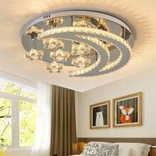 Хрустальная потолочная лампа для спальни креативная звезда луна
