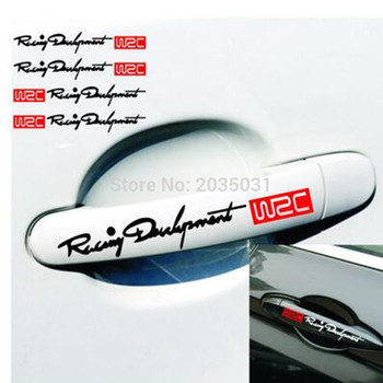 Car door handle WRC decorate stickers for BMW E46 E39 E38 E90 E60 E36 F30 F30 E34 F10 F20 E92 E38 E91 E53 E70 X5 X3 X6 M M3 M5 image