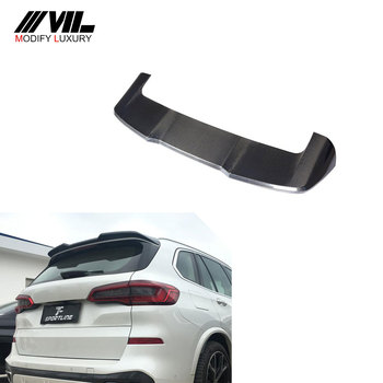 X5 Carbon Fiber Car Roof Wing Spoiler for BMW X5 G05 2019-2020 carbon fiber rear trunk wings m4 spoiler for bmw 4 series f36 420i 428i 435i gran coupe 4 door 2013 gloss black spoiler wing