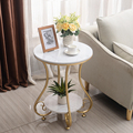 Marble Round Coffee Table with Two Layer for Living Room Tea Table Столик журнальный mesa de centro beistelltisch mesa auxiliar