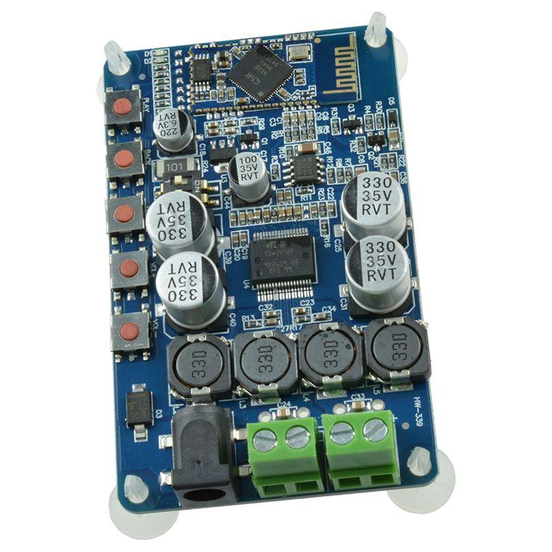 TDA7492P 50W+50W CSR8635 Bluetooth 4.0 Audio Receiver Digital Amplifier Board Blue