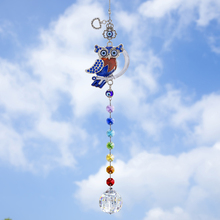 Color-Octagon-Beads Crystal Suncatcher Garden-Decor Prisms-Ball Hanging Evil-Eye-Owl-Decoration