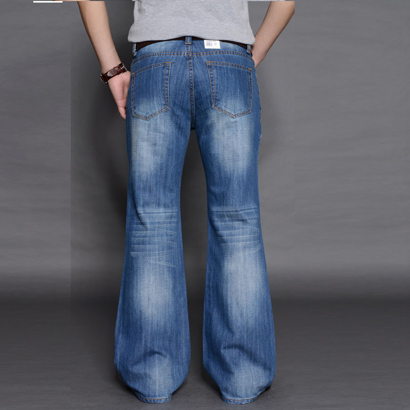 19 New Style Big Horn Jeans Men's Bell-bottom Pants Trousers Korean-style Loose Wide Leg Pants Korean-style Loose-Fit Jeans
