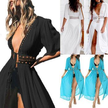 בתוספת גודל S-XXXL נשים רחצה בגד ים ביקיני בגדי ים לעטוף Pareo כיסוי למעלה חוף בנות סרונג