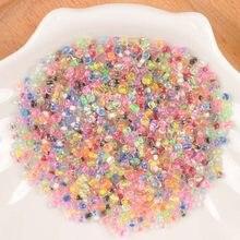 17 цветов 2/3 мм смешанные цвета чешские семена разделительные бусины DIY Мини стеклянные бусины ручной работы ювелирные изделия