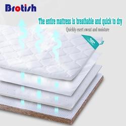 Baby mattress natural coir newborn latex padded baby child four seasons universal hard mat