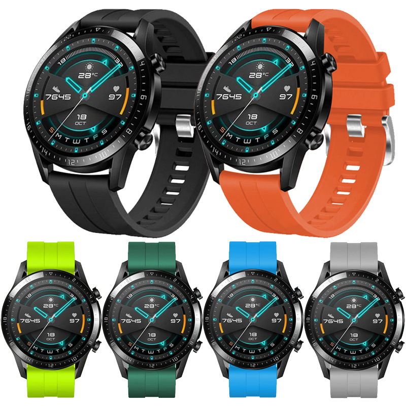 For Huawei Watch Gt 2 46mm Strap Silicone Watchband Sports Replacement Wrist Strap For Huawei Watch GT/ Gt2 46mm Bracelet Band