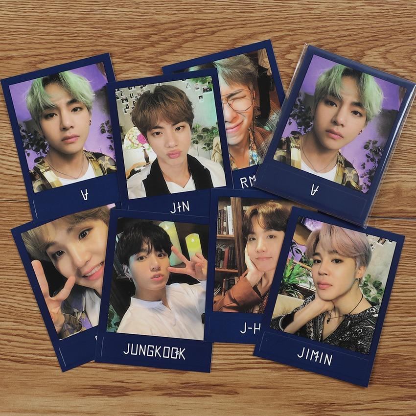 7pcs/set KPOP Bangtan Boys Lamp Lomo Cards V Jk Album SUGA Made Paper Light Photo Card Poster HD Photocard Kpop Bangtan New