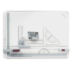Tablero de dibujo portátil A3 tablero de borrador de pintura con reglas paralelas Clips de esquina Bloqueo de cabeza ángulo ajustable herramientas de dibujo de arte
