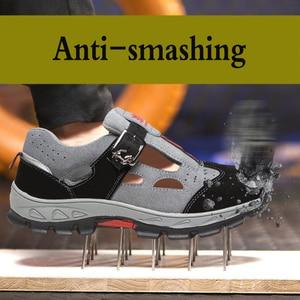 Image 5 - Scarpe antinfortunistiche da lavoro uomo puntali in acciaio scarpe antinfortunistiche antisfondamento deodorante traspirante sandali da lavoro resistenti allusura