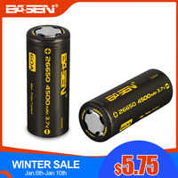 BASEN BS26003 26650 Lithium Battery 3.7V 4500mAh High Capacity 26650-60A Rechargeable Battery Suitable for Flashligh