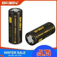 Basen BS26003 26650 Batteria Al Litio 3.7V 4500 Mah Ad Alta Capacità 26650-60A Batteria Ricaricabile Adatto per Flashligh