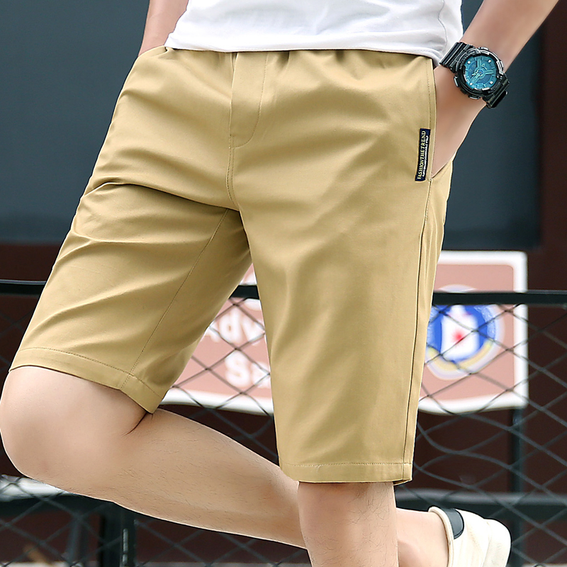2020 Newest Casual Shorts Men 100% Cotton Fashion Men Shorts Bermuda Beach 5colors Shorts Male Summer Black Khaki Plus Size 4xl