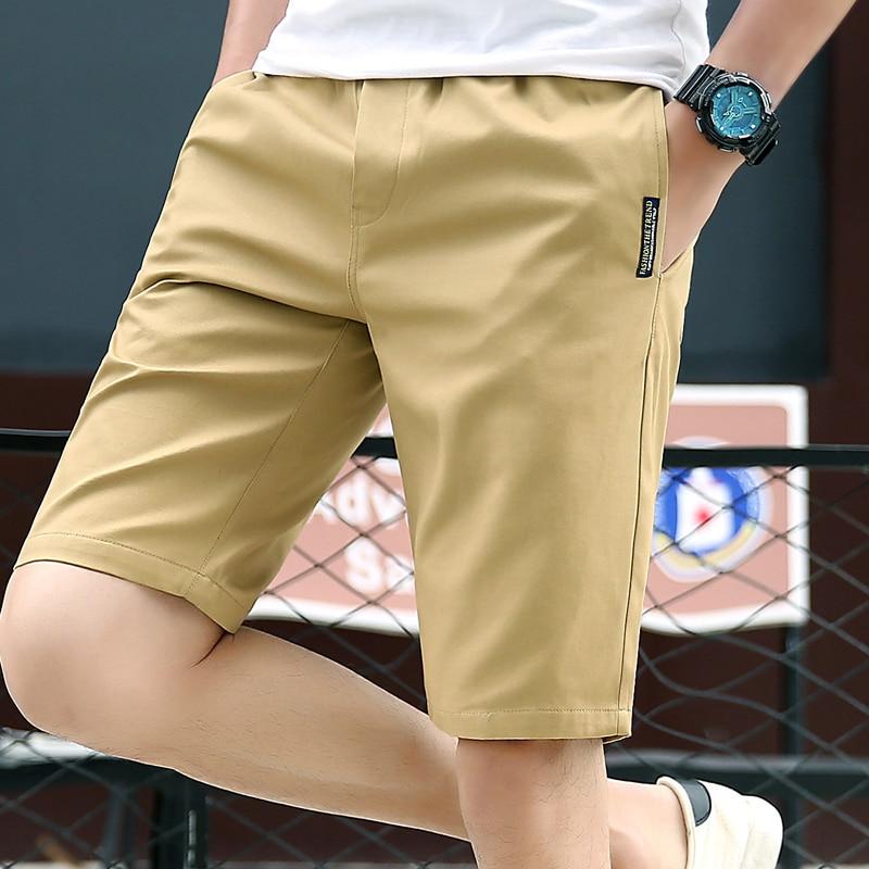 2020 Newest Casual Shorts Men 100% Cotton Fashion Men Shorts Bermuda Beach 5colors Shorts Male Summer Black Khaki Plus Size 4xl