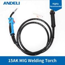 Share Mig Torch Lassen Pistool 15AK 3 M For me Laser soldering welding cable connector gas self ontsteking sanitair turbo torch soldeer solderen fakkel lassen met lassen slang voor verwarming soldeer gereedschap