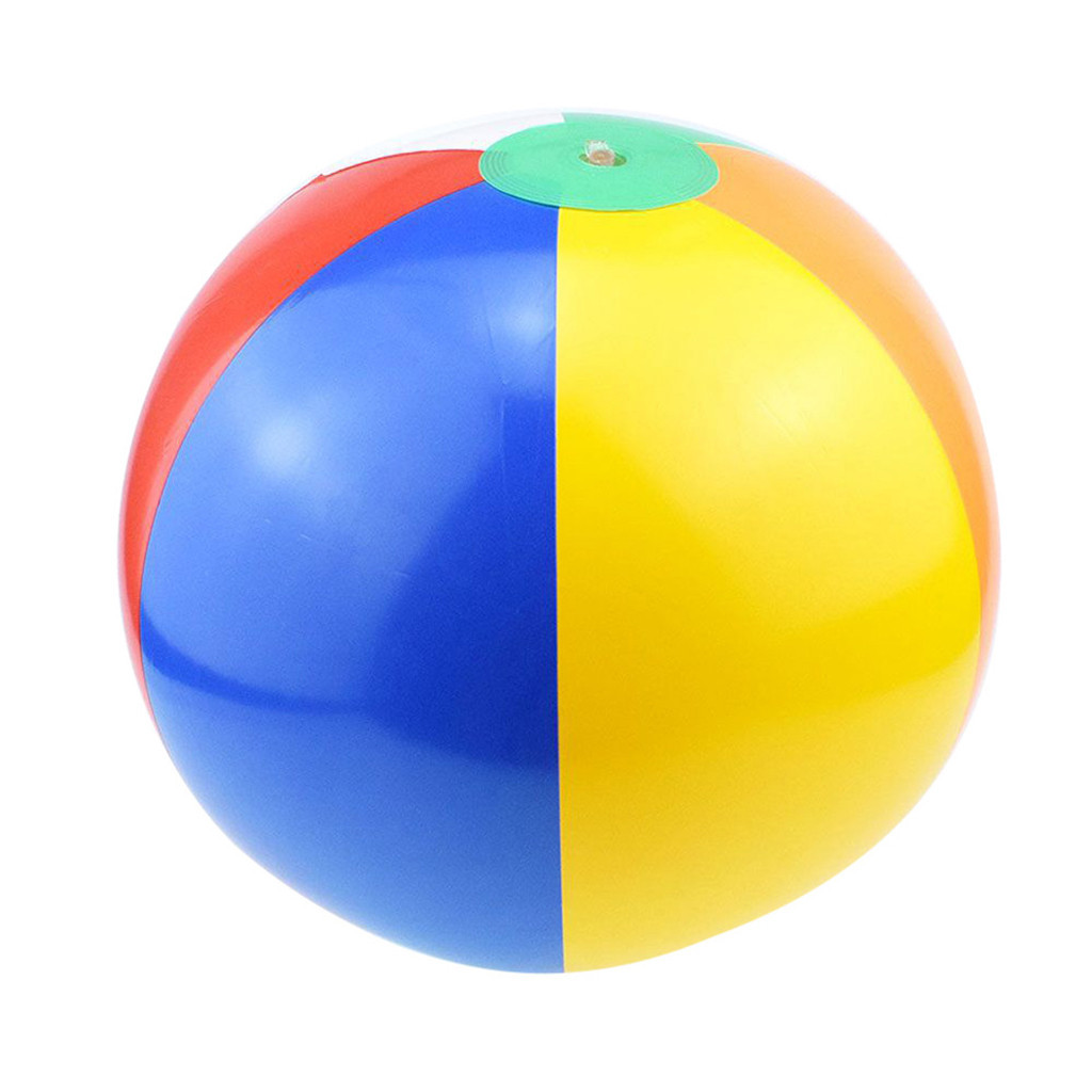 5pcs Inflatable Beach Ball Classic Rainbow Color Pool Party Favors Summer Water Toy Rubber Ball Outdoor Children Toys #B