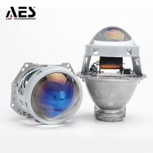 цена на 2017 Newest AES 3 Inches H4 H7 Easy Install F1 Bi-xenon hid Projector Lens 2PCS LRH/RHD LED H4 H7 Bulb Headlight Projector Lens