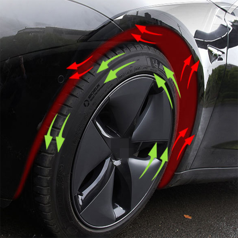 2Pcs Tire Insulation Cotton Car Styling For Tesla Model 3 2017 2018 2019 2020 Accessories