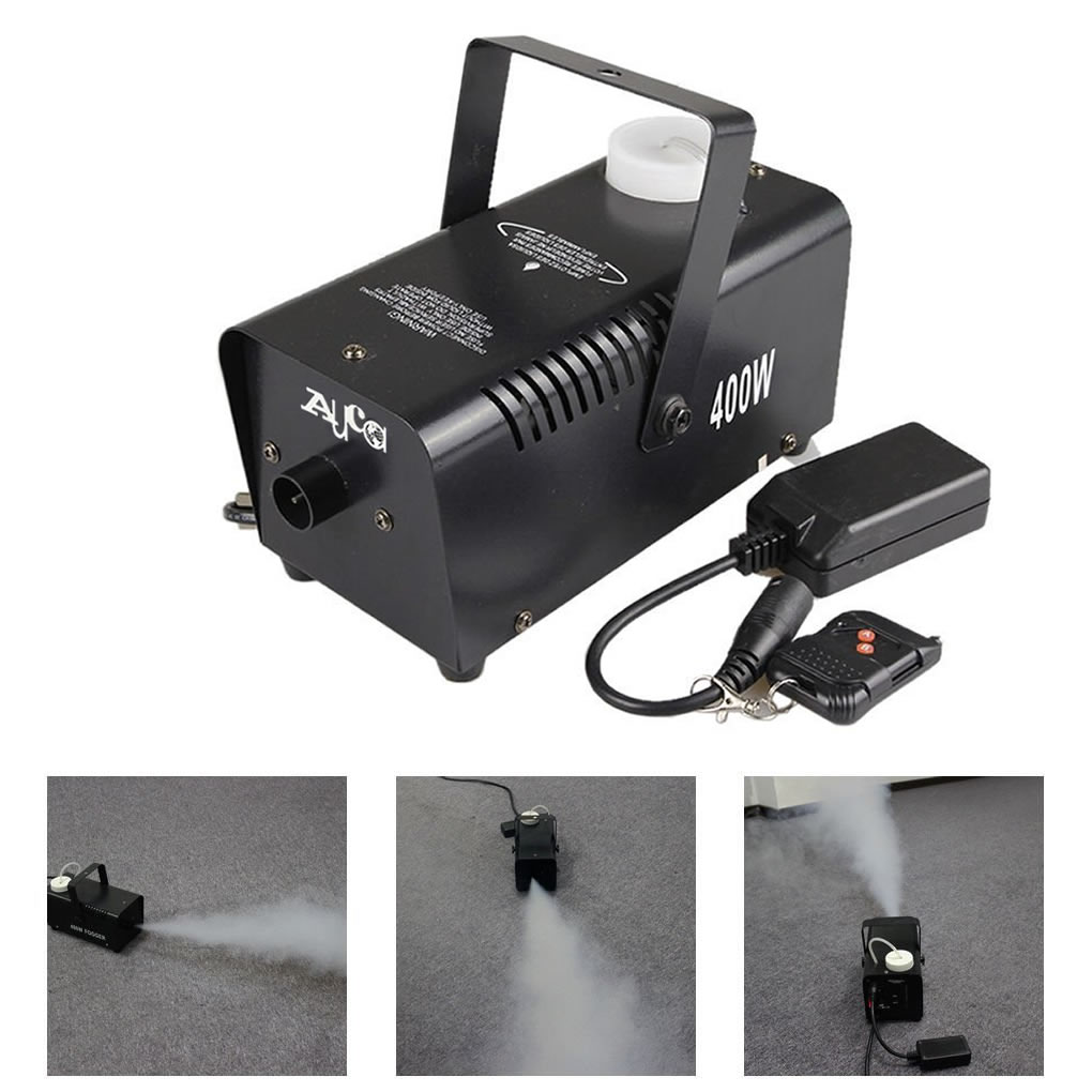 400W Remote Thrower Fog Machine Sprayer Disinfection Disco Home Party DJ Stage Portable Fogger Smoke Disinfectant Atomizer