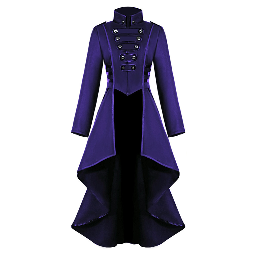H63464244cc1942f587e4a51a8ac5ab75s Women Halloween Jackets Gothic Steampunk Button Lace Corset Casual Halloween Costume Coat Tailcoat Jacket dropshipping