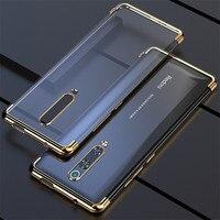 Funda protectora trasera para Xiaomi Redmi Note 8 Pro, carcasa de TPU blando y delgado, chapado, transparente, para xiaomi redmi 8 8A Note 8 9S PRO