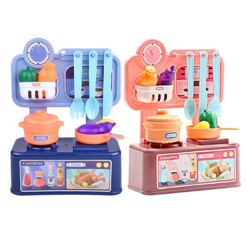 Кухня Забавный красочный ролевые игры Набор гладкая посуда еда DIY аксессуары упражнения воображение и логическое мышление