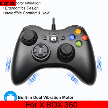 цена на USB Wired Controller Gamepad Joypad Joystick For XBOX360 Game Joystick For PC Windows 7/8/10