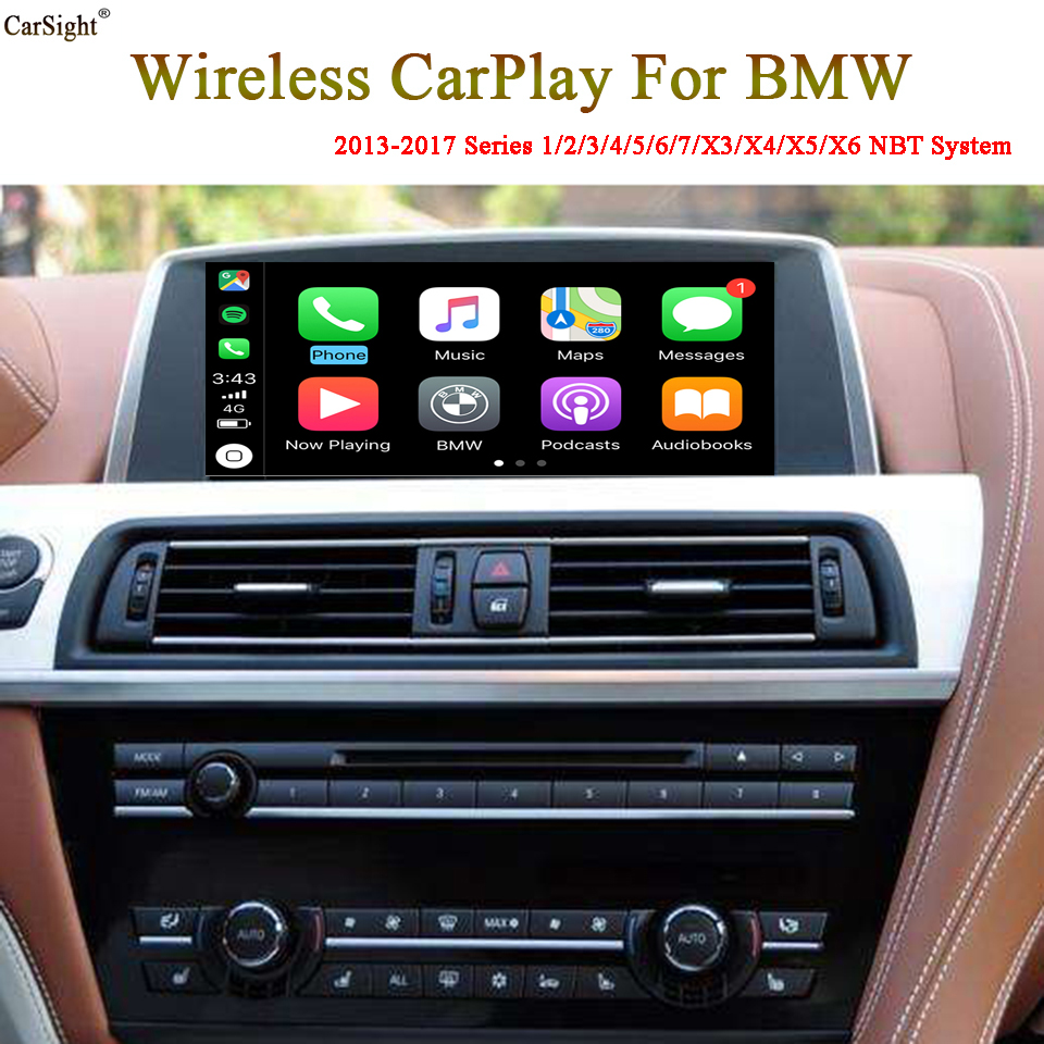 CarPlay Mobile Interconnection Box for <font><b>BMW</b></font> X1 X2 X3 <font><b>X4</b></font> X5 X6 2012-2017 iPhone Android Auto Interface Plug and Play image