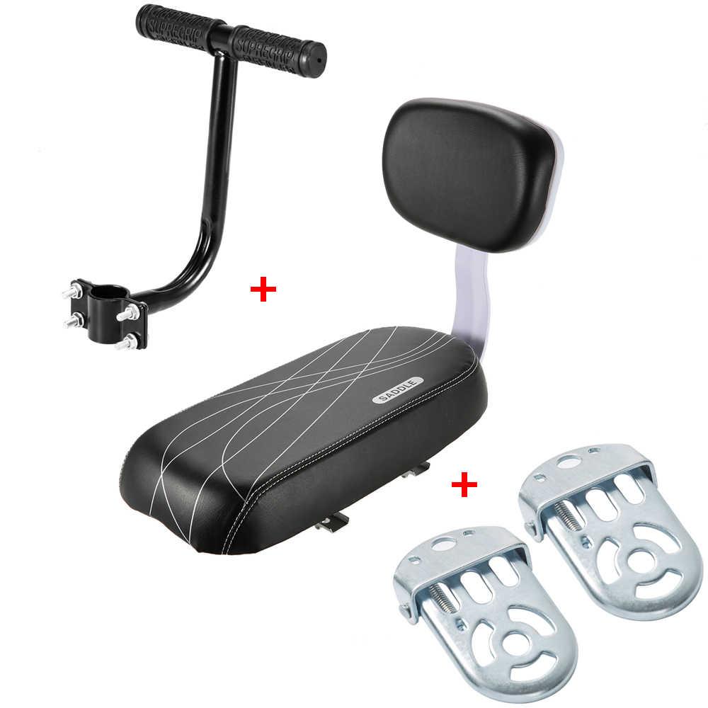 Lixada 3Pcs Anak Sepeda Belakang Kursi Diatur dengan Pegangan Pijakan Kaki Anak-anak Safety Handle Kursi Belakang Sandaran Tangan Pijakan Kaki Pedal