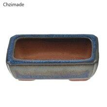 Chzimade 9 видов стилей китайские керамические бонсай цветочные горшки для цветочных растений глазурованный горшок для украшения дома
