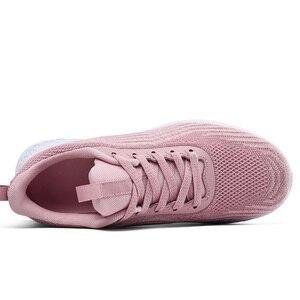 Image 5 - חם חדש סניקרס נשים אור נוח פשוט עיצוב מוצק שחור כחול ורוד ריפוד מזדמן הליכה נעלי Tenis Feminino