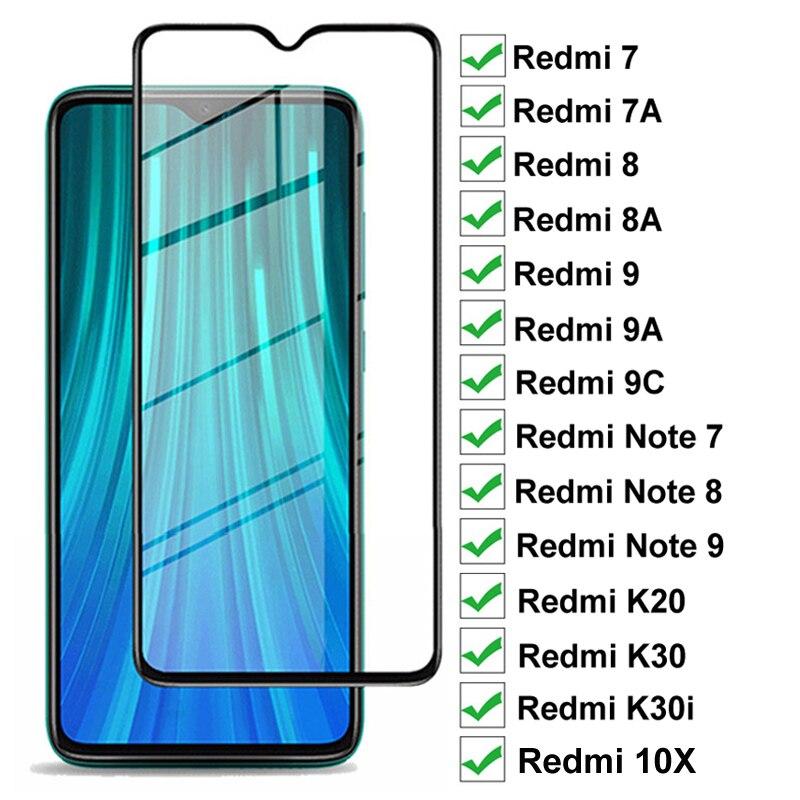 9D Schutz Glas Für Xiaomi Redmi 9A 9C 7A 8A 10X K20 K30 Pro K30i Screen Protector Redmi Hinweis 8T 9S 7 8 9 Pro Max Glas Film