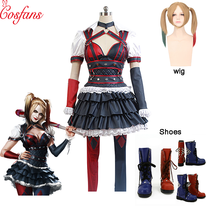 Batman Arkham Knight Harley Quinn Cosplay Costume Carnival Christmas Halloween Costumes Women Sexy Costume Harley Quinn Costume
