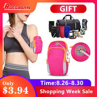 Hot Sale Sports Armband Case Zippered Fitness Running Bag Gym Pouch Arm Band Holder Running Bags For Mobile Phones бейсболк мужские
