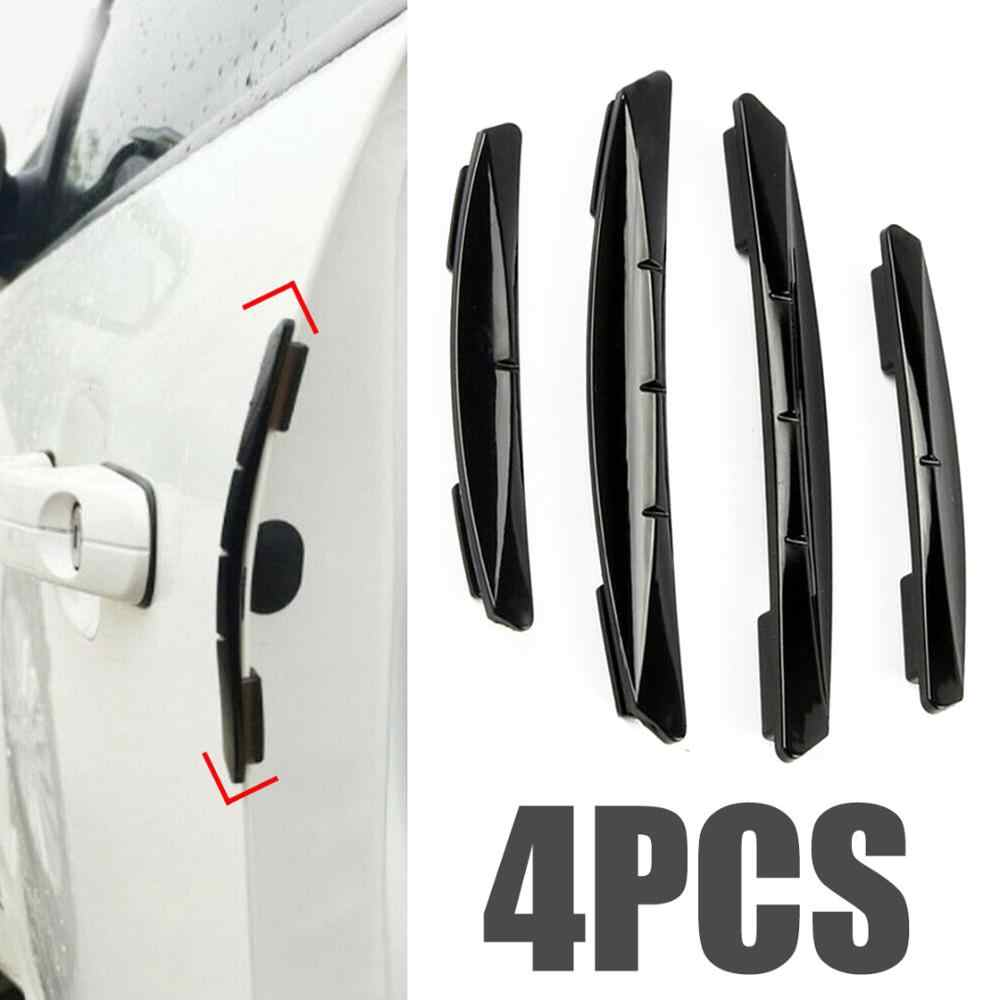 Koop 4 Stuks Auto Sticker Deur Edge Guards Trim Molding Protection Strip Scratch Protector Auto Crash Guard Collision