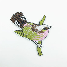 50pcs Wholesale Bird Embroidery Iron on Patches for Clothing Animal Applique DIY Hat Coat Dress Pants Accessories Cloth Stickers