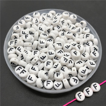 100pcs/lot 4x7mm Acrylic Spacer Beads Letter Beads Oval Alphabet Beads For Jewelry Making DIY Handmade Accessories 31