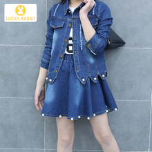 2019 Newest Teen Girls Spring Autumn Denim Cowboy Outerwear Cowgirl Coat Single Jacket