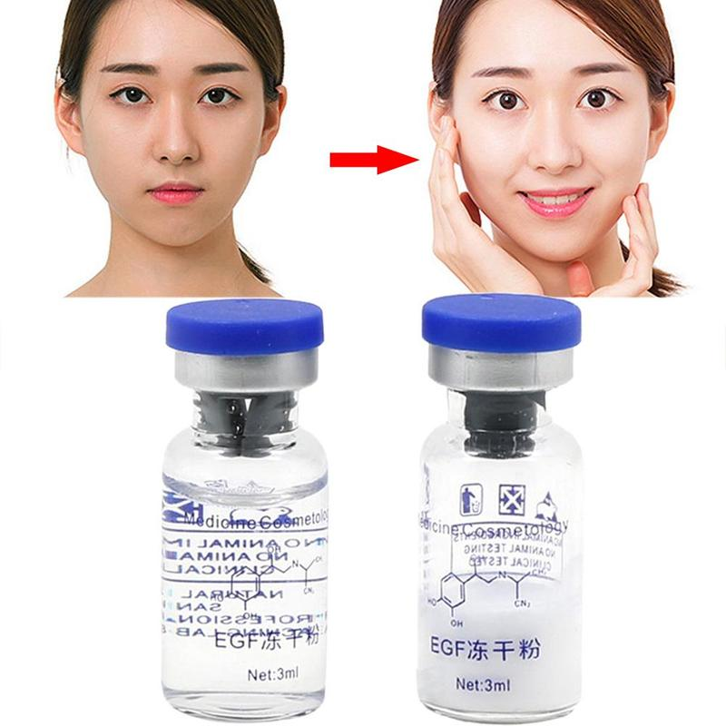 1Set EGF Lyophilized Powder Repair Serum Anti Ageing Anti Wrinkles Dispel Acne Skin Repair Lyophilized Powder & Lysozyme Liquid