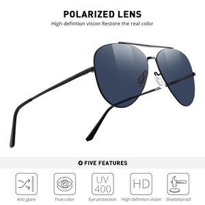 Image 2 - MERRYS 디자인 남자 클래식 파일럿 선글라스 CR39 HD 편광 렌즈 망 안경 운전 UV400 보호 S8226