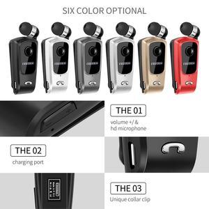 Image 5 - Fineblue F920 Draadloze Bluetooth Hals Clip Telescopische Business Oortelefoon Trilalarm Dragen Stereo Sport Headset Mic