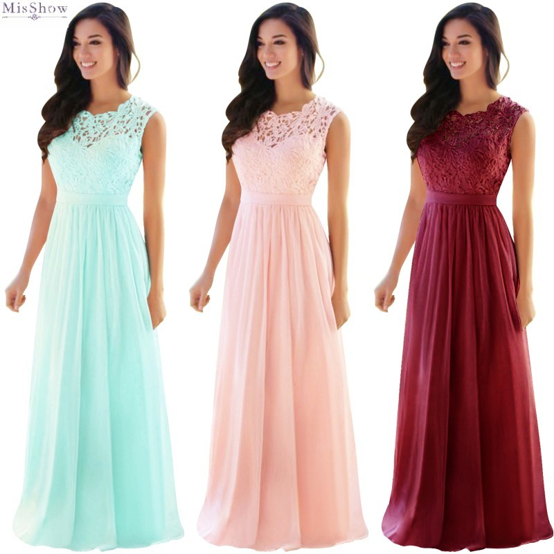 Blush Pink Chiffon Lace Long Bridesmaid Dresses 2020 Wedding Guest Party Gown Sleeveless Maid Of Honor vestido madrinha