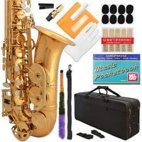 Professional Black Gold Keys Eb E Flat Alto Saxophone Sax, 11 Reeds, Case & Many Extras 24 COLORS Available 360 BK