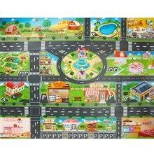 Детский игровой коврик, напольная игра, детский коврик для ползания, 130*100 см, водонепроницаемый, для детей, дорожный знак, для парковки автомобиля, игрушки для мальчиков