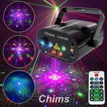 Chims proyector láser RGB para escenario, luz para fiesta, 96 patrones, música de DJ de colores, Festival de Navidad, Club de DJ de baile, discoteca